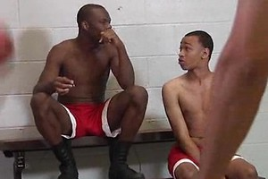 Intrigue, Marquez, Blaze, Brooklyn & Mr. Young Gun - basketball players orgy