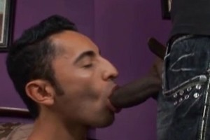 Pedro fucks a huge black cock